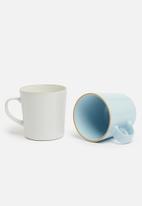 Excellent Housewares - Pastel mug set of 4 - multi