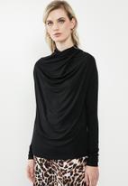 Vero Moda - Canice high neck top - black