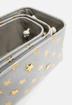 H&S - Star storage set of 3 - grey