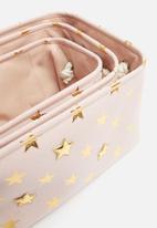 H&S - Star storage set of 3 - pink