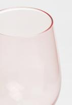 Excellent Housewares - Rose wine glass set of 2 - pink