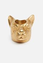 H&S - Animal dinner candle holder - jaguar