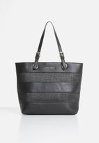 Pierre Cardin - Lucille straw tote - black