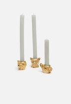 H&S - Animal dinner candle holder - bear