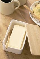 Yamazaki - Tosca butter dish - white