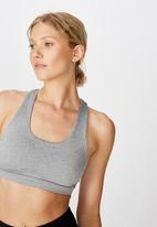 Cotton On - Workout cut out crop - mid grey marle