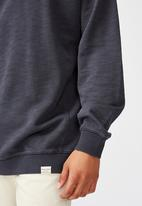 Cotton On - Pigment dyed oversized crew - navy