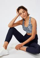 Cotton On - Workout cut out crop scratchy animal - navy