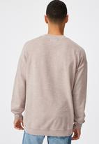 Cotton On - Pigment dyed oversized crew - musk