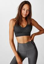 Cotton On - Workout training crop - charcoal marle