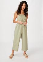 Cotton On - Woven Amanda pinafore jumpsuit - green