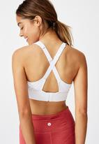 Cotton On - Workout training crop - white