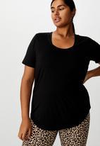 Cotton On - Curve gym T-shirt - black