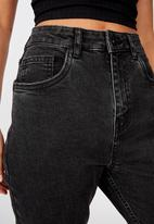 Factorie - Cropped flare jeans - black