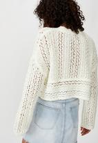 Cotton On - Wide sleeve chopped pullover - white