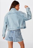 Factorie - Patch pocket denim jacket - blue