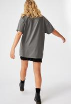 Factorie - Oversized graphic tee legends wolves - grey