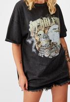 Factorie - Oversized graphic tee fearless - black