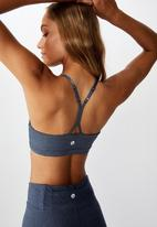 Cotton On - So soft racer crop - navy marle