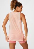 Cotton On - Active curve hem tank soft cameo - pink