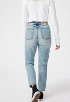 Factorie - Ripped mom jeans - vintage blue