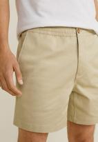 MANGO - Rafa bermuda shorts - stone