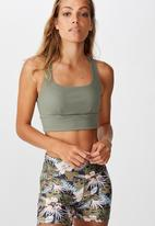Cotton On - Rib cut out crop - steel shadow