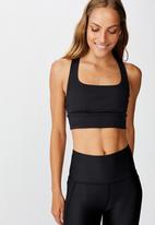 Cotton On - Rib cut out crop - black
