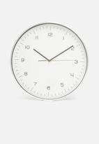 H&S - Aluminium wall clock - silver
