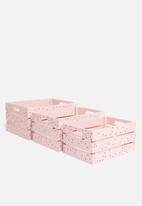 H&S - Shine bright crate set of 3