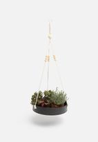 H&S - Sienna hanging planter - black
