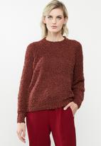 Vero Moda - Agnes o-neck blouse - brown