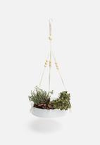 H&S - Sienna hanging planter - white