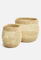 H&S - Layla basket set - natural