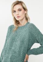 Vero Moda - Agnes o-neck blouse - atlantic