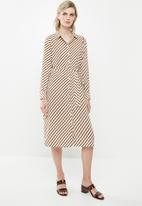 Vero Moda - Jane shirt dress - cream & brown