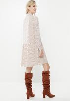 Vero Moda - In your dreams dress - cream & brown