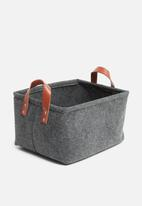 H&S - Felt rec storage basket - black
