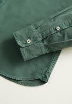MANGO - Oxdye shirts - green