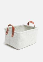 H&S - Felt rec storage basket - grey
