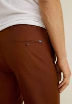 MANGO - Boston pants - burnt orange