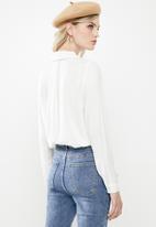Vero Moda - Jordan long sleeve shirt - white