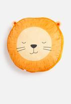 H&S - Lion face cushion - orange & yellow