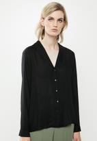 Vero Moda - Jordan long sleeve shirt - black