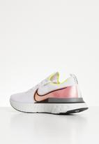 Nike - React Infinity Run Flyknit - platinum tint / black pink blast
