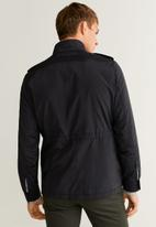 MANGO - Toch jacket - black