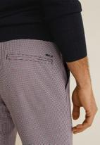 MANGO - Dash pants - grey & red