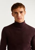 MANGO - Luton T-shirt - burgundy