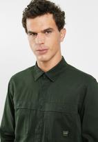 Only & Sons - Gavin long sleeve twill workwear overshirt - khaki