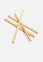 Sixth Floor - Straw bamboo set 8 piece - brown